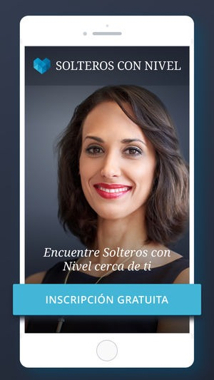 Mujer como imagen de la aplicación móvil de Solteros con Nivel opiniones