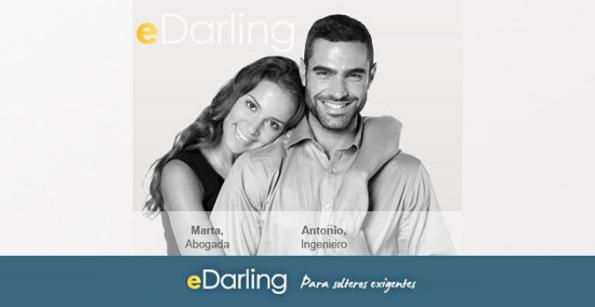 Pareja unida gracias a aplicaciones para ligar gratis: eDarling