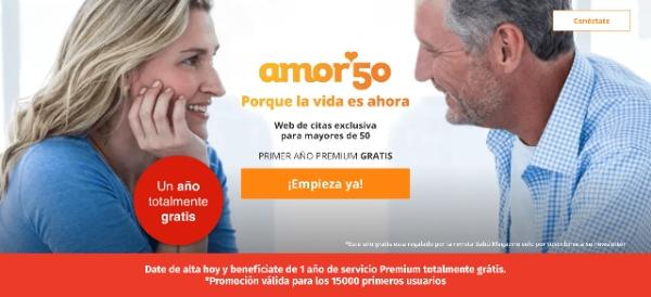 Amor50: Paginas de citas para mayores